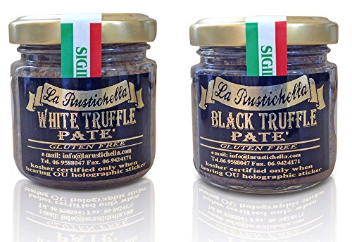 La Rustichella Truffles USA - Gourmet Truffle Pate - OU Kosher - Truffle Pate Variety (Net Wt. 3.2 oz each)