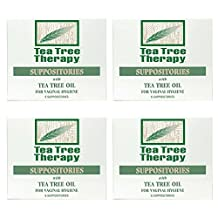 Pack of 4 x Tea Tree Therapy Vaginal Suppositories with Tea Tree Oil - 6 Suppositories