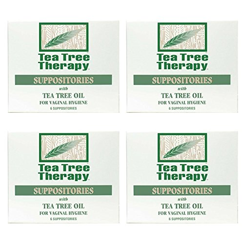 (Tea Tree Therapy Vaginal Suppositories with Oil (4-Pack of 6))