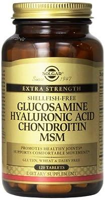 Solgar - Glucosamine Hyaluronic Acid Chondroitin MSM (shellfish