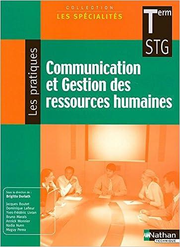 Communication et Gestion des ressources humaines - Terminale STG pdf, epub ebook