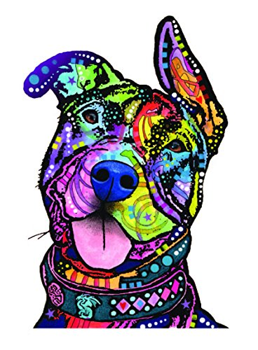 Pit Bull Car Sticker, Outdoor Rated Vinyl Sticker Decal for Windows, Bumpers, Laptops or Crafts (Sun Vinyl Window Decal Bumper)