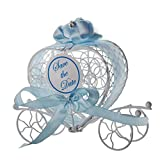 Product review for Transer Metal Candy Box Party Wedding Favors Boxes Romantic Carriage Sweets Chocolate Box (Blue)