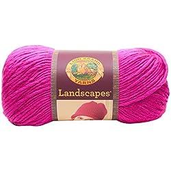 Lion Brand Yarn 545-146 Landscapes Yarn, Fuchsia