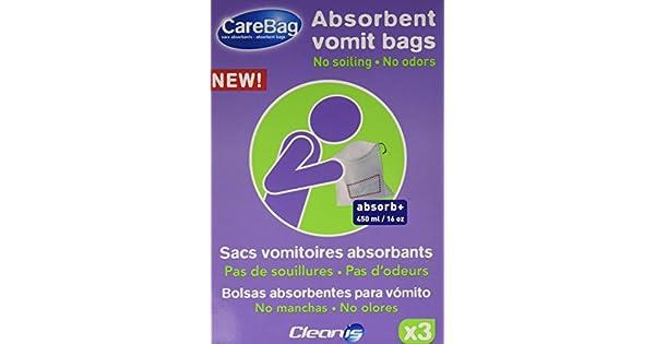 Amazon.com: carebag Travel Kit – 3 vomitar bolsas con ...