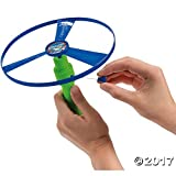 Flying Saucer With Launcher - 2 Sizes Discs Included - Great For Party Favors, Gifts, Prizes, Beach - 2 Sets