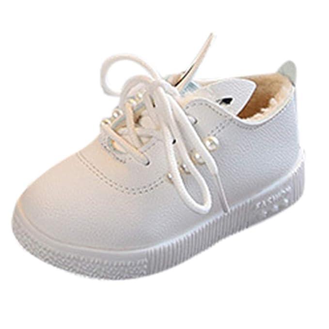 Yahoo Zapatos para niños Zapatillas de Deporte Chicas Calientes Suaves Antideslizantes Zapatos Individuales Niños más algodón cálido Zapatos niñas Orejas de ...