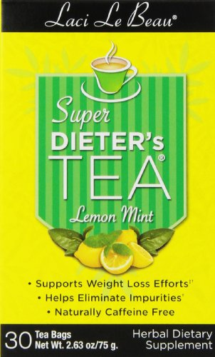 Box Super Dieters Tea - Laci Le Beau Super Dieter's Tea, Lemon Mint, 30 Count Box, 2.63 oz (Pack of 4)