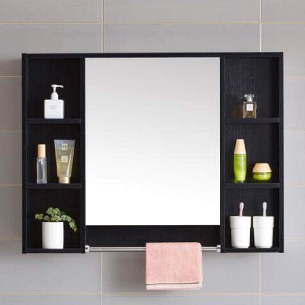 Mirror Cabinets Bathroom Black Solid Wood Storage Vanity Bathroom Mirror Wall Mounted Bathroom Vanity Mirror Storage Storage Amazon Co Uk Kitchen Home