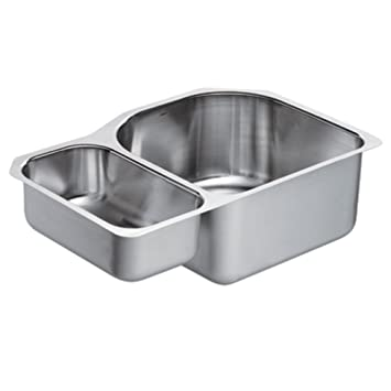 stainless steel undermount sink with drainboard pegasus double bowl kitchen series gauge