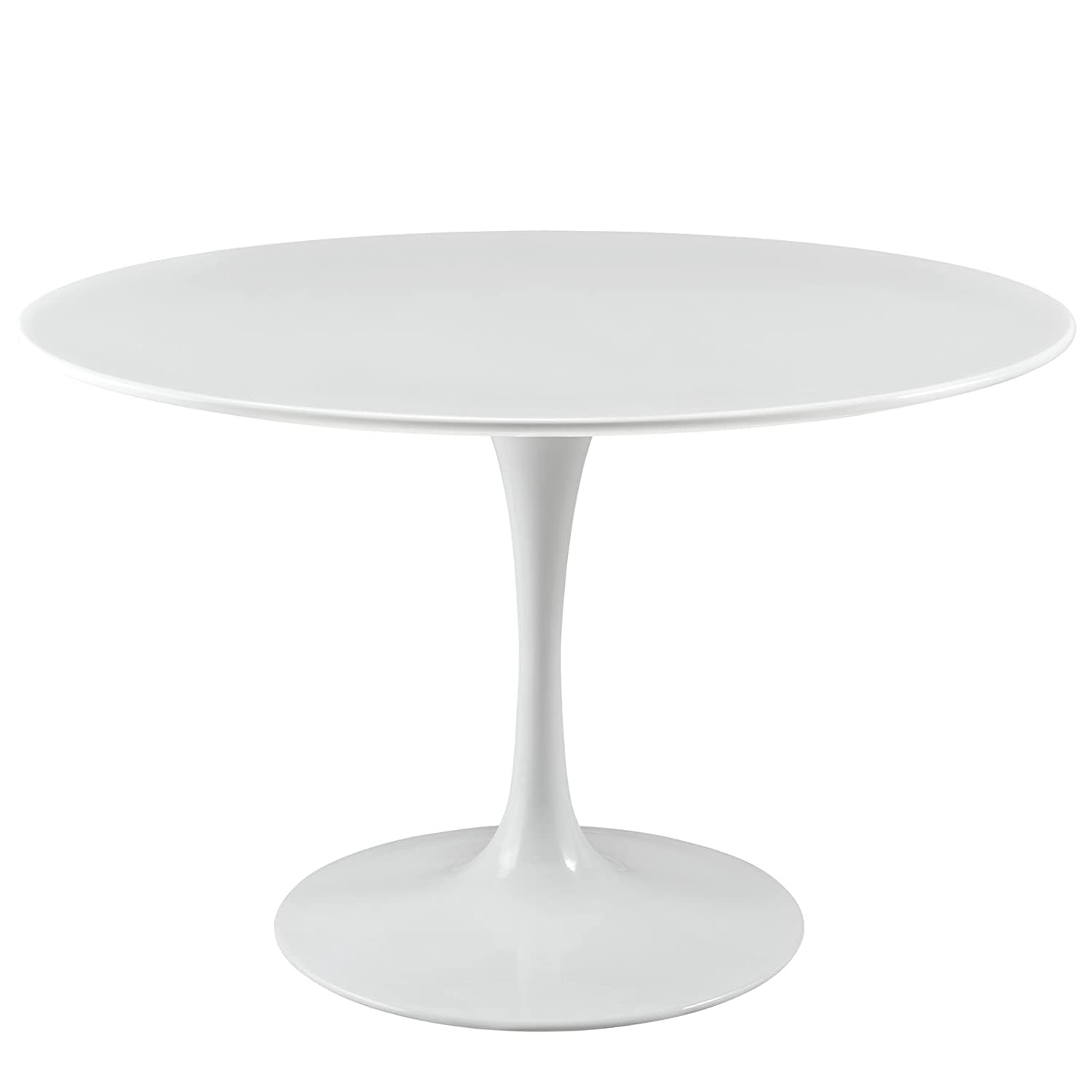 "Amazon Modway Lippa 47"" Wood Top Dining Table in White"