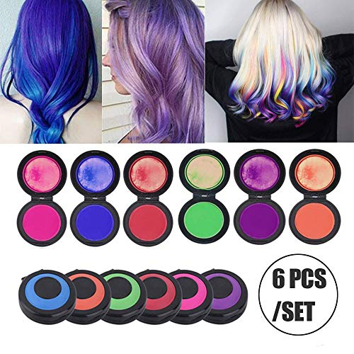 Reusable Portable Fast Hair Dye Set Temporary Hair Chalk Set Hair Chalk Christmas Birthday Party Cosplay Gifts 6 Colors【Last Day Promotion】