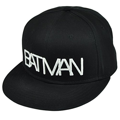 DC Comics Batman Typography Logo Snapback Hat Black