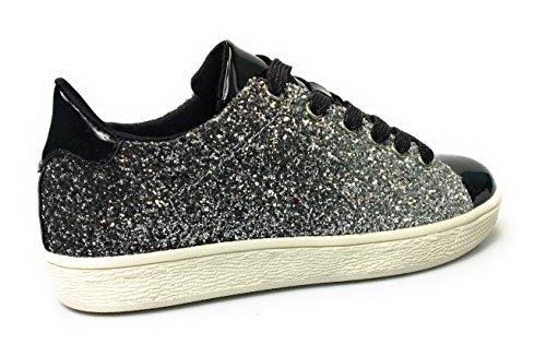 Per Sempre Collegano Le Scarpe Da Donna Glitter Fashion (11, Black Glitter-1)