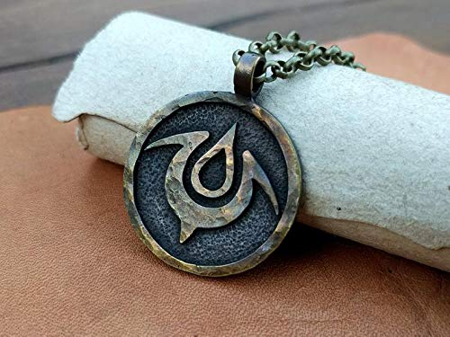High Quality Solid Metal Casting Fire Emblem Exalt Pendant Necklace Charm Jewelry