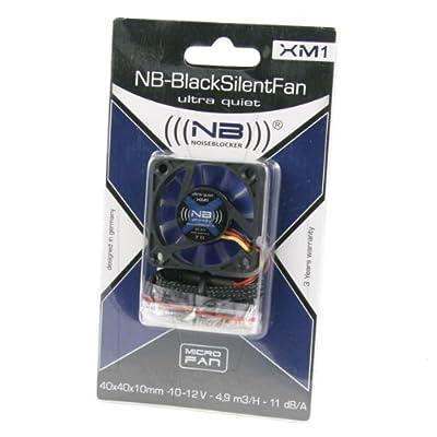 Noiseblocker NB-BlackSilentFan XM1 40mmx10mm Ultra Quiet Fan - 2800 RPM - 11 dBA by Noiseblocker