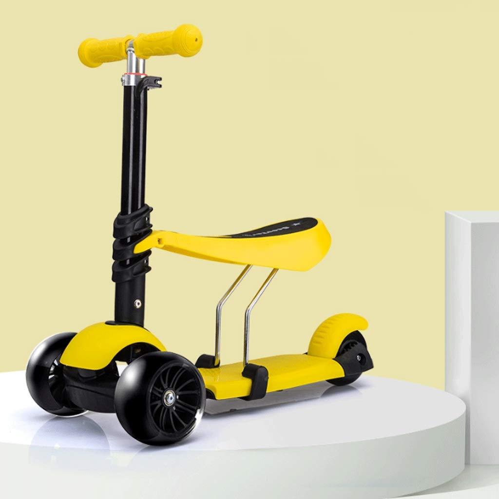 生まれのブランドで WangYi : スケートボード- 1-3-6歳のフラッシュホイールスクーターは三輪スクーターを取ることができます (色 : B07NMD42CW Green, サイズ さいず いえろ゜ : 53x26x75cm) B07NMD42CW 53x26x75cm イエロー いえろ゜ イエロー いえろ゜ 53x26x75cm, セフラ化粧品:b1528b98 --- a0267596.xsph.ru