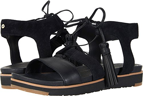 UGG Women's Maryssa Flat Sandal, Black, 5.5 M US