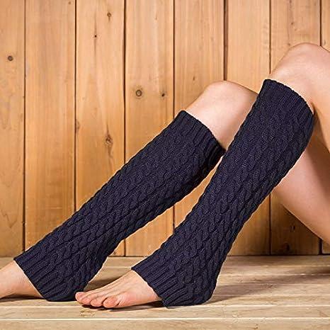 VEA-DE Warm Leg Sets Socken, Klassische Socken, Wolle, Herbst und Winter, warmes Bein, Stiefel, Stiefel, Waden, koreanische Stapel, kleine 8-Wort-Socken (Farbe: Marineblau)