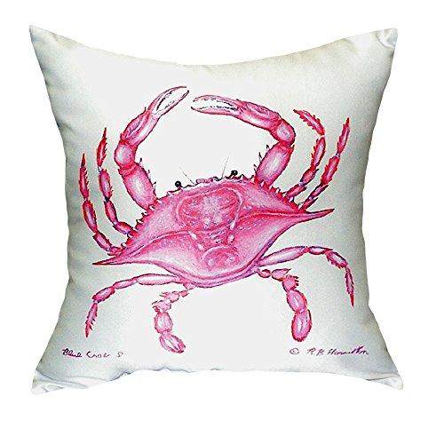 Betsy Drake NC102 Pink Crab No Cord Pillow,,18