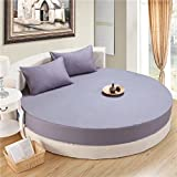 Cotton Long-staple Cover,Thin Mat Bed Cover Hypoallergenic Dust Ruffle Ultra-soft Linen Breathable Stain And Abrasion Resistant Mattress Cover-K diameter200cm(79inch)