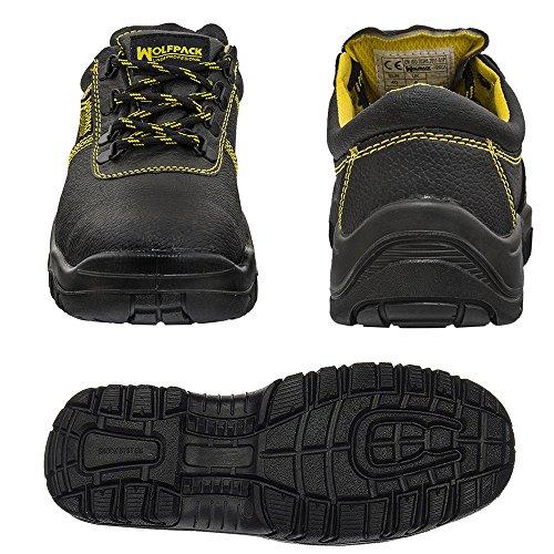 Wolfpack 15018140 Zapatos de seguridad de piel, talla 44, color negro: Amazon.es: Bricolaje y herramientas