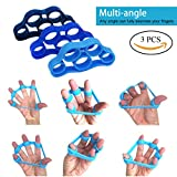 Yasmine Hand Resistance Bands Finger Stretcher Hand Extensor Exerciser Finger Grip Strengthener Strength for Relieve Joint Pain, Injury Rehabilitation,Relaxation and Rock Climbing