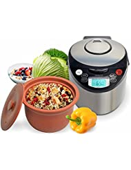 VitaClay VM7900-6 Smart Organic Multi-Cooker- A Rice Cooker, Slow Cooker, Digital Steamer plus bonus Yogurt Maker, 6 Cup/3.2-Quart