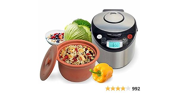 clay pot cooker review Amazon.com: VitaClay VM2-2 Smart Organic Multi-Cooker- A Rice