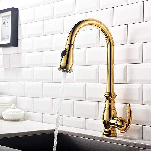 YYG-YYG 流域の蛇口浴室タップゴールドと銅の蛇口キッチンシンク温水と冷水の蛇口の流域の蛇口バスルームタップを引い 蛇口