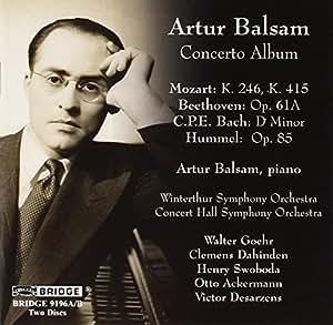 Artur Balsam: Concerto Recording
