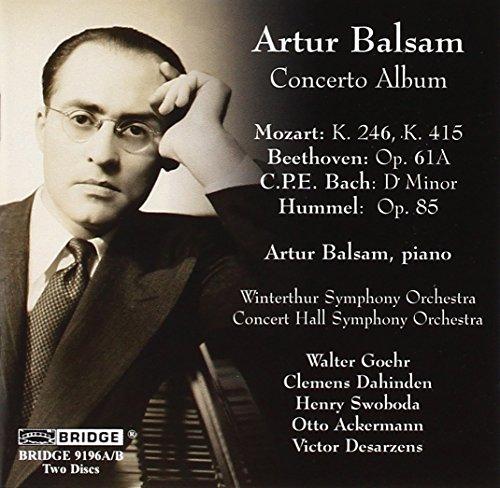Artur Balsam: Concerto Album (Concertos Album Piano Cd)