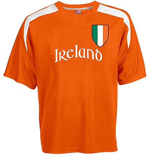 Hardkor Sports Customized Ireland Soccer Jersey Adult large in Orange and White