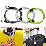 GOOTRADES 3 Pack Outdoor Travel Security Loop Cable Lock Lightweight Tiny U-Lock