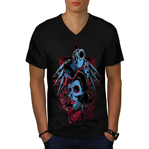 Evil Zombie Star Rise Nightmare Men NEW XXL V-Neck T-shirt | Wellcoda (Love Bite Vampire Costume)