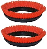 Oreck Commercial 237047 Crimped Polypropylene Scrub Orbiter Brush, 12'' Diameter, 0.028'' Bristle Diameter, Orange, For ORB550MC Orbiter Floor Machine (2 pack)