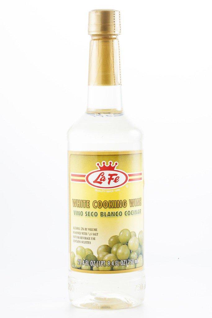 La Fe White Cooking Wine 25.4 Oz, Vino Seco Blanco Para Cocinar
