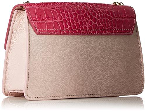 5x14x22 Tasche Sand 6 Damen cm Laurèl Mehrfarbig Schultertasche Pink q501wz4