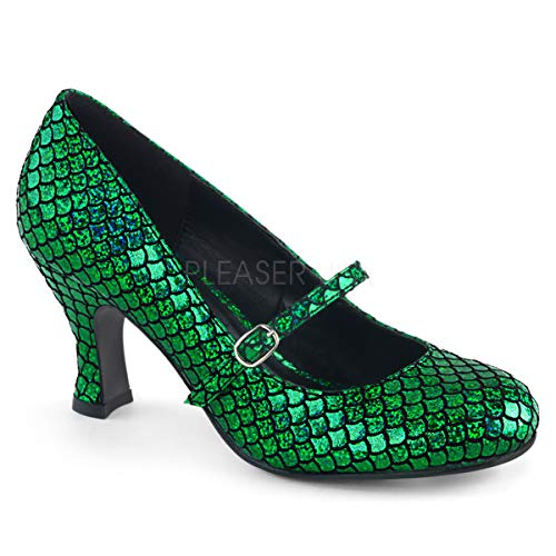 Women's Green Mermaid Heels - 6