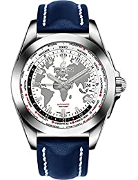 Galactic Unitime Steel w/Blue Leather Strap Mens Watch WB3510U0/A777-112X