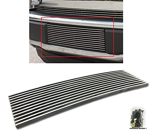 Sizver Chrome Lower Bumper Billet Grille Overlay For 15-17 Ford F-150