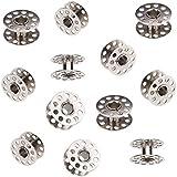 WINOMO 20pcs 20mm diamètre intérieur Machine à coudre bobines métalliques pour Brother, Singer, Toyota Janome (argent)