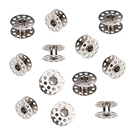20pcs 20mm Diameter Domestic Sewing Machine Metal Bobbins for Brother,Singer,Toyota Janome Silver