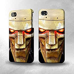 Hu Xiao Apple iPhone 4 / 4S case cover - The Best 3D Full Wrap iPhone case cover YHo8Gde43VI - Warrior Robot Head
