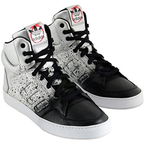 Adidas Bankshot Donne / Nero / Bianco Argento M19063 (Dimensioni: