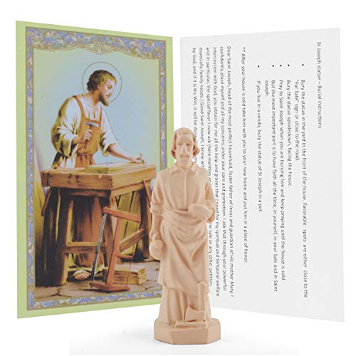 Saint Joseph Statue Home Seller House Selling Kit with Instrutions and Prayer Card ()