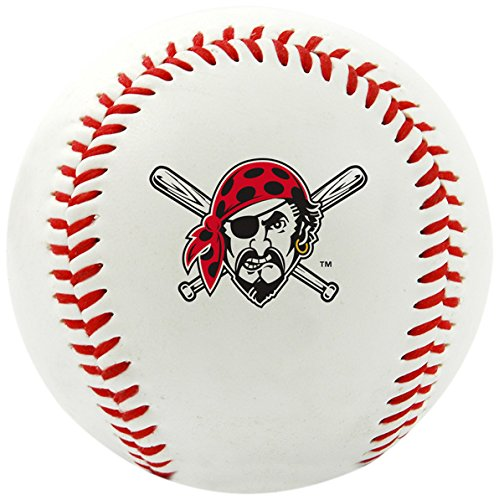 Rawlings MLB Pittsburgh Pirates Team Logo Baseball, Official, White