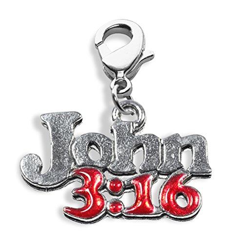 Whimsical gifts john 3:16 charm earrings in silver
