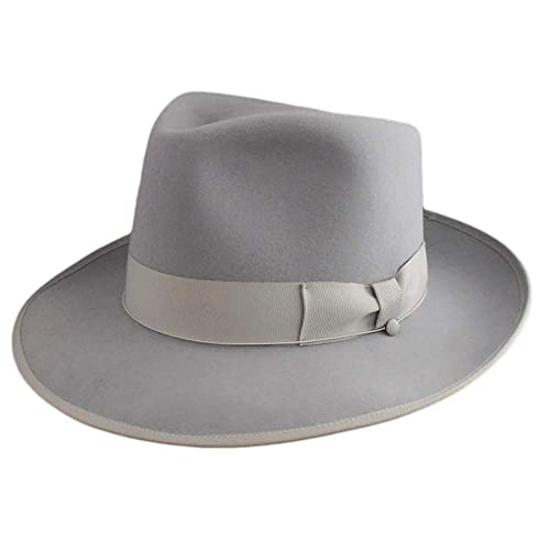 b56206d61426a Amazon.com  Fedora Johnny top quality raplica hat Light Grey  Handmade