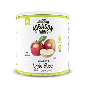 Augason Farms Dehydrated Apple Slices 1 lb 3 oz #10 Can